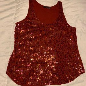 Sequin sleeveless top
